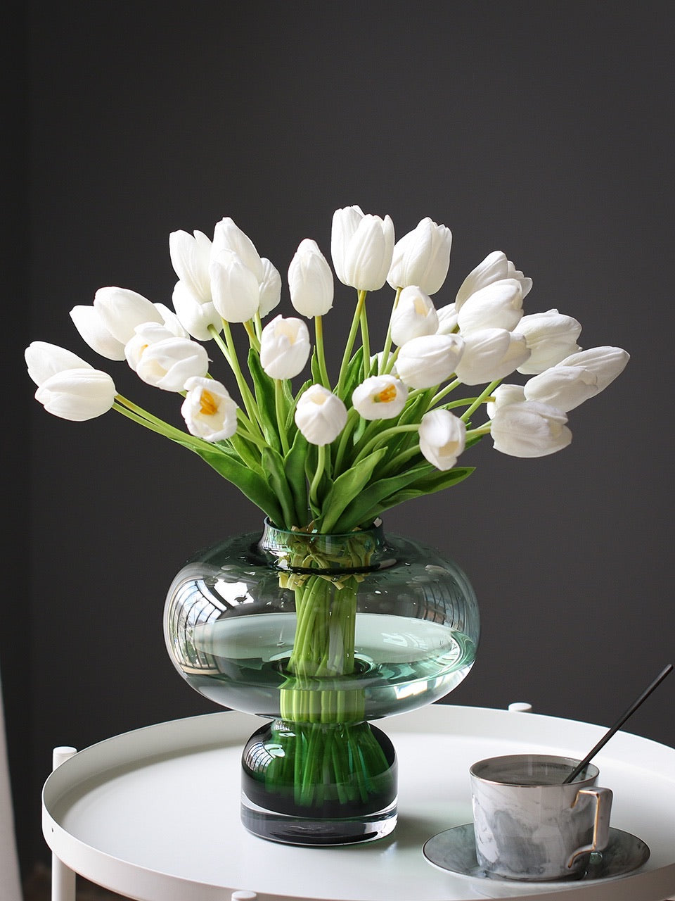 Vicky Yao Faux Floral - Real Touch Fresh Elegant Tulips Flower Arrangement