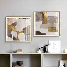 Load image into Gallery viewer, Vicky Yao Wall Decor - Luxury Marble With Gold 2 Sets Canvas Prints