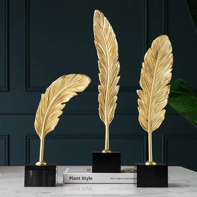 Vicky Yao Table Decor - Handmade Feathers Set (3 pieces) Premium Decor Ornament