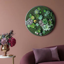 將圖片載入圖庫檢視器 Vicky Yao Wall Decor - Circular Artificial Plant Wall Decor