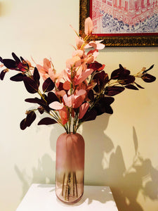 Vicky Yao Faux Floral- Exclusive Design Colorful Artificial Eucalyptus Flower Arrangement With Vase