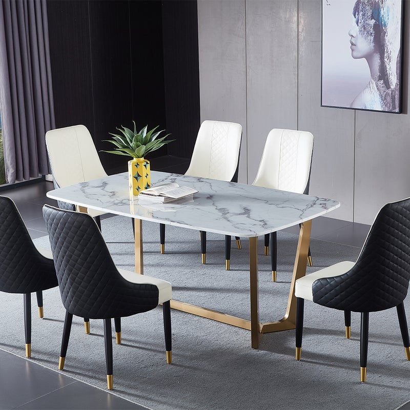 Vicky Yao Luxury Furniture - Luxury Marble Dinner Table