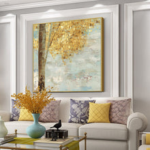 將圖片載入圖庫檢視器 Vicky Yao Wall Decor - Luxury Golden Leaves Canvas Prints