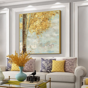 Vicky Yao Wall Decor - Luxury Golden Leaves Canvas Prints