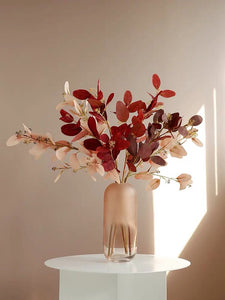 Vicky Yao Faux Floral- Colorful Eucalyptus With Vase - Vicky Yao Home Decor SEO