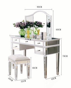 Vicky Yao Luxury Furniture- Full set of dressing mirror table - Vicky Yao Home Decor SEO