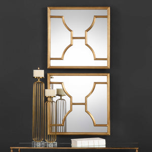 Vicky Yao Wall Decor - Luxury Square Mirrors S/2