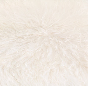 Vicky Yao Home Decor - Luxury White Fur Real Mongolian Lambs Wool Chair