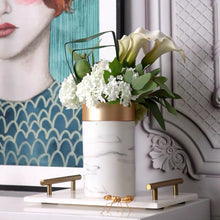 Load image into Gallery viewer, Vicky Yao Faux Floral - Exclusive Design White Marbling Artificial Floral Arrangement