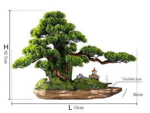 Vicky Yao Faux Plant - Exclusive Design Artificial Landscape Bonsai Gift For Him