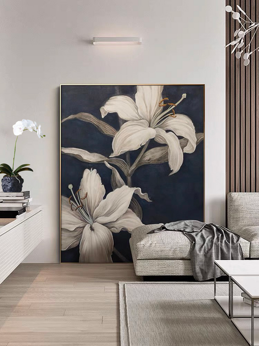 Vicky Yao Wall Decor - Elegant lily Canvas Prints