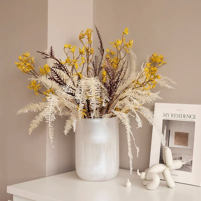 Vicky Yao Table Decor - Exclusive Design Preserved Flowers Arrangement With Sparkling Vase