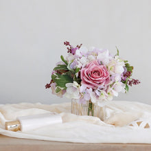 Load image into Gallery viewer, Vicky Yao Faux Floral - Exclusive Design Pink Hydrangea Rose Flower Arrangement