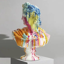將圖片載入圖庫檢視器 Vicky Yao Table Decor - Exclusive Design Art Colorful Plaster Statue