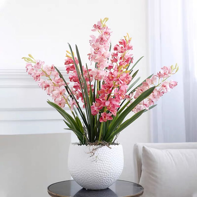 Vicky Yao Faux Floral - Exclusive Design Real Touch Artificial Cymbidium Floral Arrangement
