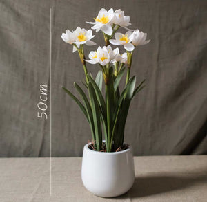 Vicky Yao Faux Floral - Exclusive Design Real Touch Artificial Daffodil Flower Arrangement