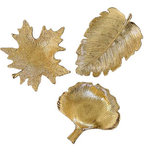 Vicky Yao Table Decor- Luxury Exclusive Design Gold Metal Leaf Ring Tray