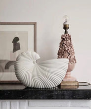 Load image into Gallery viewer, Vicky Yao Table Decor - Exclusive Design Ceramic White Conch Vase/Storage Box