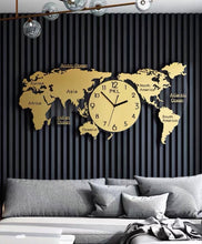 Load image into Gallery viewer, Vicky Yao Wall Decor - Luxury Metal Clock Wall Decor Gold