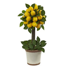 Load image into Gallery viewer, Vicky Yao Faux Floral -Lemon Ball Topiary Silk Arrangement - Vicky Yao Home Decor SEO