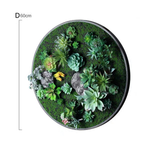 Vicky Yao Wall Decor - Circular Artificial Plant Wall Decor