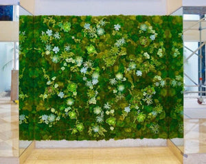 Vicoy Yao-The moss wall panels make a Great Wall Art feature in your office - Vicky Yao Home Decor SEO