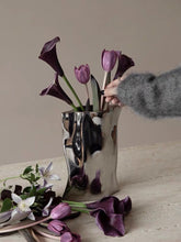 Load image into Gallery viewer, Vicky Yao Table Decor - Handmade Ceramic Gilded Silver Irregular Vase
