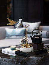 画像をギャラリービューアに読み込む, Vicky Yao Table Decor - Exclusive Design Handmade Luxury Natural Crystal Brass Bird Art