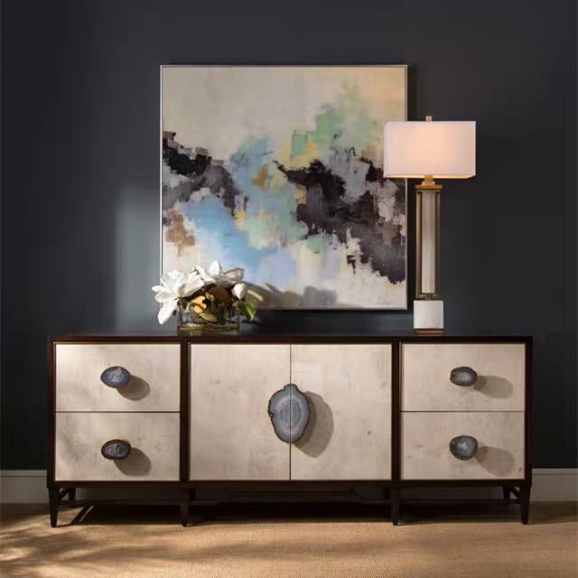 Vicky Yao Luxury Furniture - Luxury Handcrafted Stunning Agate TV Cabinet