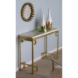 Vicky Yao Luxury Furniture - Gold Marble Sideboard Console Table