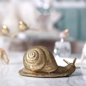 Vicky Yao Table Decor - Luxury Golden Decorative Snail / Insect