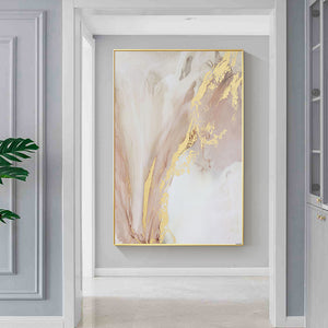 Vicky Yao Wall Decor - Luxury Marble With Gold Canvas Prints