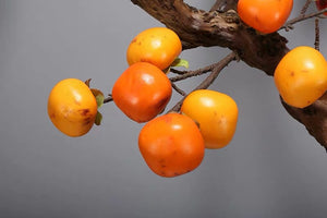 Vicky Yao Faux Floral - Real Touch Chinese Style Artificial Persimmon Bonsai