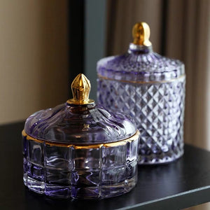 Vicky Yao Table Decor - Exclusive Color Dream Luxury Lavender Purple Lilac Cotton Jar S2