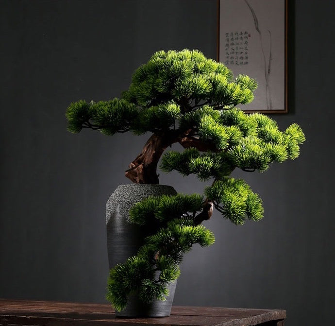 Vicky Yao Faux Plant - Exclusive Design Artificial Bonsai Arrangement 60cm H Gift For Him