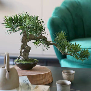Vicky Yao Faux Plant - Exclusive Design Artificial Bonsai Arrangement Gift For Him