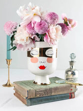 Load image into Gallery viewer, Vicky Yao Faux Floral - Exclusive Designe Pretty Lady face Vase Artificial Flowers Arrangement