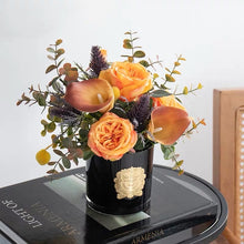 Load image into Gallery viewer, Vicky Yao Faux Floral - Exclusive Design  Artificial Orange Callalily Flowers Arrangement