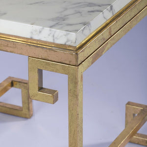 Vicky Yao Luxury Furniture - Luxury Marble Side Table Gold