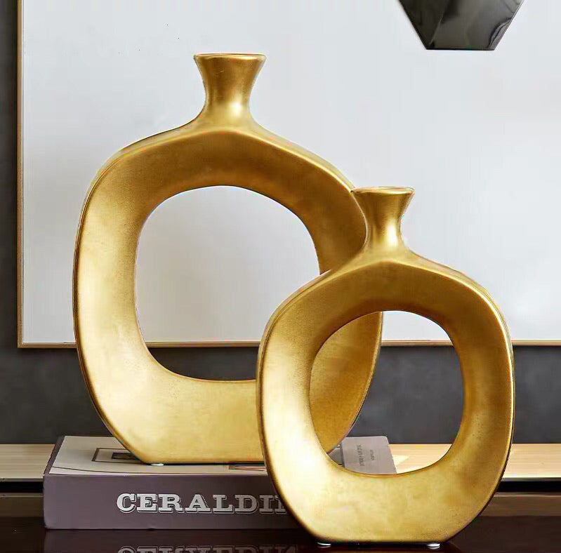Vicky Yao Table Decor - Exclusive Design Golden A Set of Sculpture
