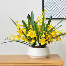 画像をギャラリービューアに読み込む, Vicky Yao Faux Floral - Exclusive Design Stunning Yellow Artificial Oncidium Floral Arrangement