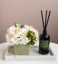 Load image into Gallery viewer, Vicky Yao Faux Floral - Real Touch Elegance Hydrangea Floral Arrangement - Vicky Yao Home Decor SEO