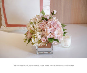 Vicky Yao Faux Floral - Exclusive Design Multicolor Purple Hydrangea Artificial Flowers Arrangement