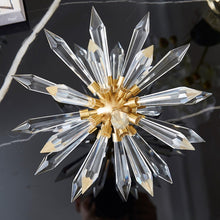 画像をギャラリービューアに読み込む, Vicky Yao Table Decor - Exclusive Design Brass Set of Crystal Glass Flowers