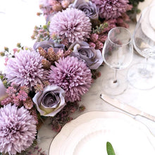 Load image into Gallery viewer, Vicky Yao Faux Floral - Exclusive Design Purple Table Decoration And Artificial Flower Art