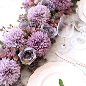 Vicky Yao Faux Floral - Exclusive Design Purple Table Decoration And Artificial Flower Art
