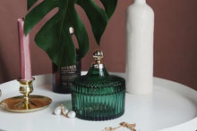 Load image into Gallery viewer, Vicky Yao Table Decor - Vintage Green Luxury Jewelry Cotton Jar