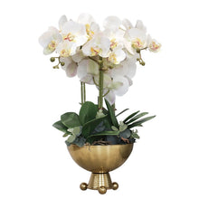 Load image into Gallery viewer, Vicky Yao Faux Floral - Exclusive Design Luxury Artificial Orchid Flower Arrangement With Triangle Ball Vase