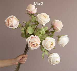 Vicky Yao Faux Floral - Exclusive Craft Real Touch Long Stemmed Colourful Roses