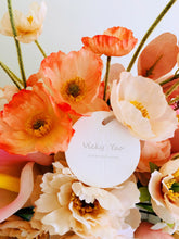 Load image into Gallery viewer, Vicky Yao Faux Floral - Exclusive Orange Pink Floral Design